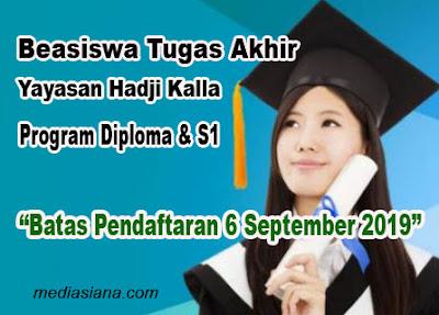 Beasiswa Tugas Akhir Diploma dan Sarjana