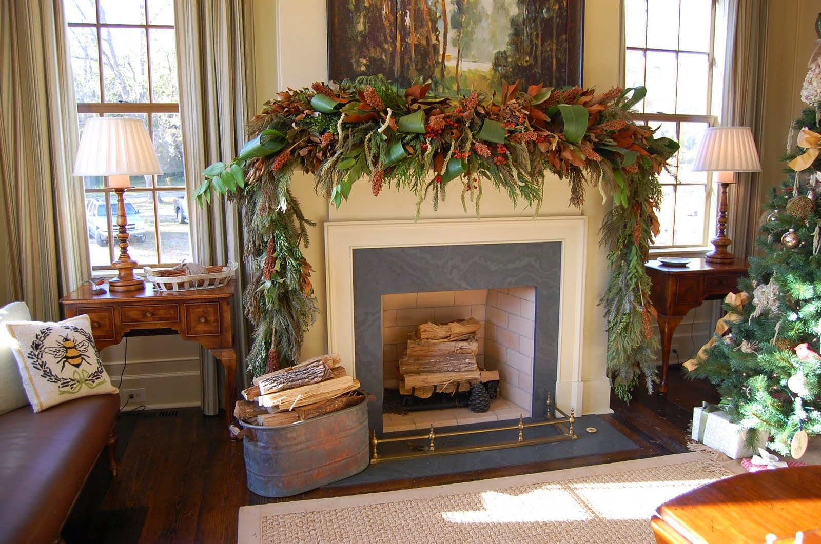 Lantzyruns Interior Design Home Traditional Fireplace Mantel Decorating Ideas With Brick Accent And Some Classic Candles On The Top