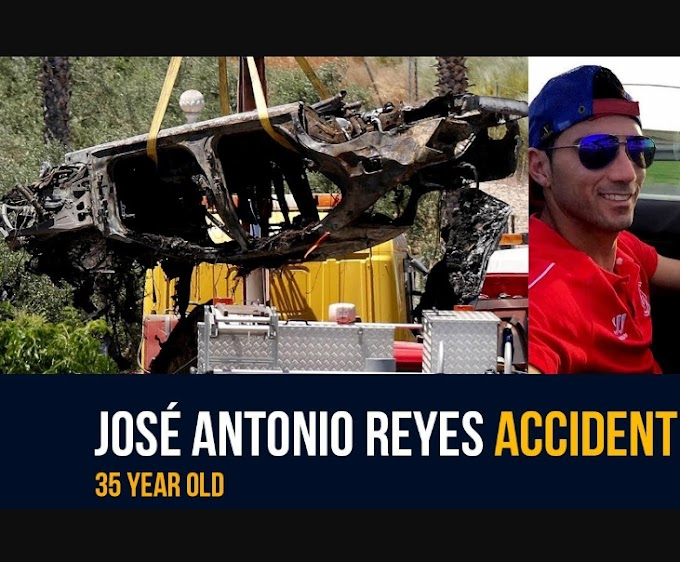 Photos from Jose Antonio Reyes' crash scene as it is revealed he died with his cousin and another man