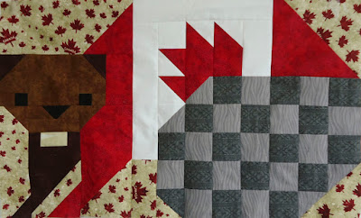Beaver block designed by Lorna of Sew Fresh Quilts