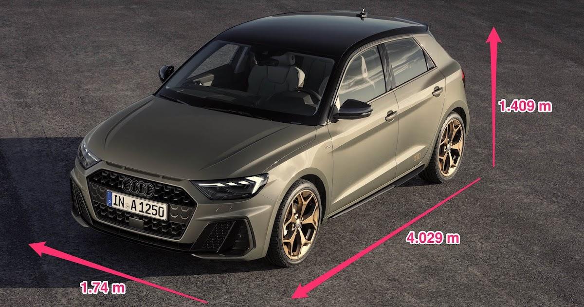 Dimensioni Audi A1 2019 Sportback | Bagagliaio, Schema Misure e Serbatoio | dMotori.IT