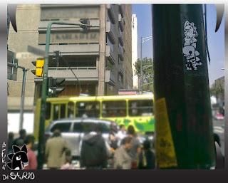 sticker street art en México