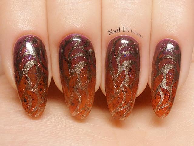 """""""Pomieszanie z poplątaniem"""" czyli połączenie klasycznego lakieru z hybrydowym / """"Hodgepodge"""" or in other words combination of regular nail polish and hybrid nail polish"""