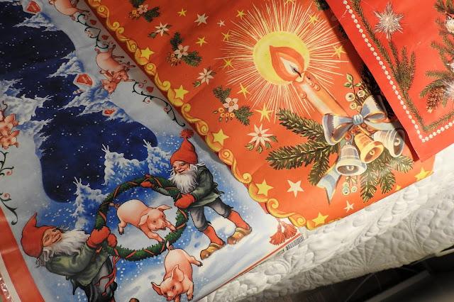 paperiliinat, joululiinat, vintage, tontut, joulu, kynttilä, joulukellot