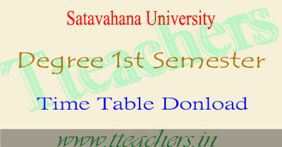 Satavahana university degree 1st sem results 2017 date su 1st year exam