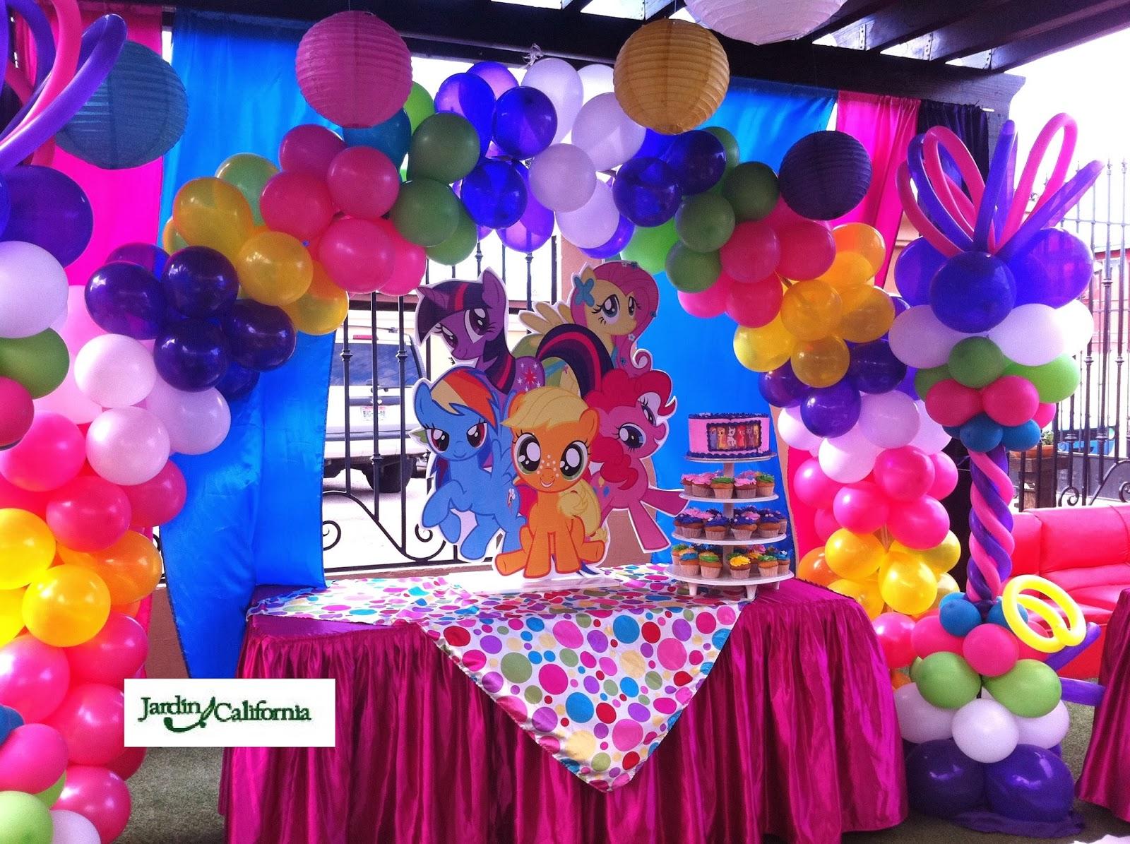 Jardin california decoraci n de fiestas infantiles tem ticas - Fiesta infantil tematica ...