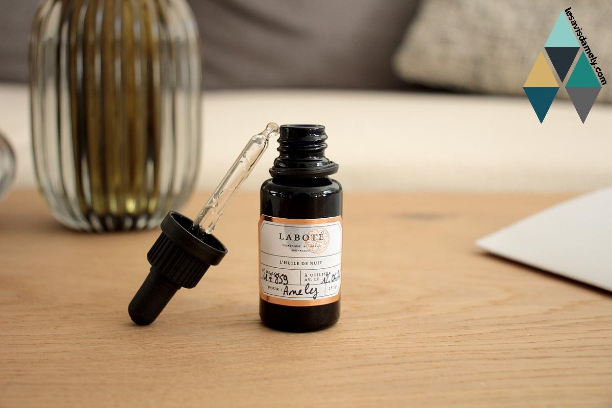 avis soins sur mesure à la demande laboté huile de nuit