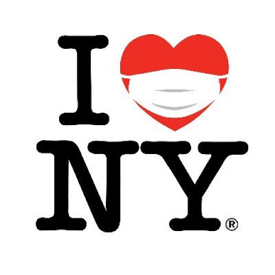 "This is an image that is a ""play"" on the famous ""I HEART NY"" logo and on the heart a face-mask is imprinted. Te image is associated with the Twitter account for NY state @ https://twitter.com/NYGov?ref_src=twsrc%5Egoogle%7Ctwcamp%5Eserp%7Ctwgr%5Eauthor"