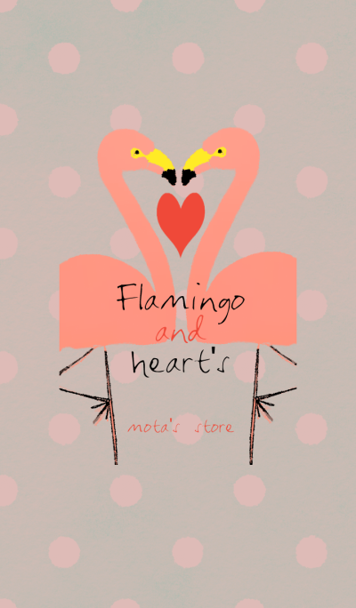Flamingo & heart's