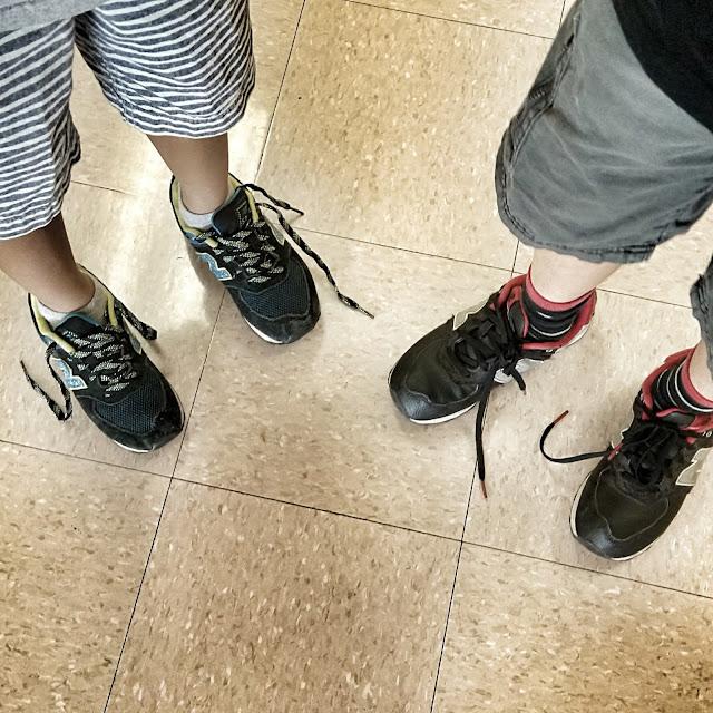 boys always have untied shoelaces