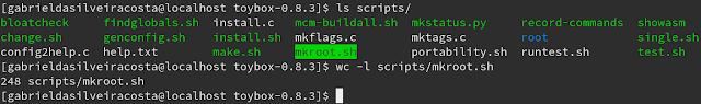 script mkroot dentro do diretório scripts do toybox.