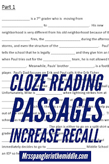 Cloze reading is #3 in my Top 10 Tips for Teaching ESL/ELL/ESOL students!