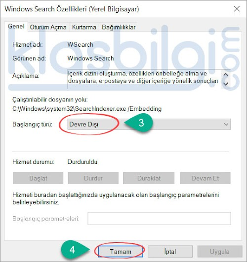 Gereksiz Windows Servislerini Kapatın