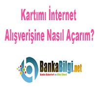 Kredi Kartını İnternet Alışverişine Açtırmak