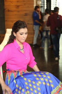 Actress Mannar Chopra in Pink Top and Blue Skirt at Rogue movie Interview  0186.JPG