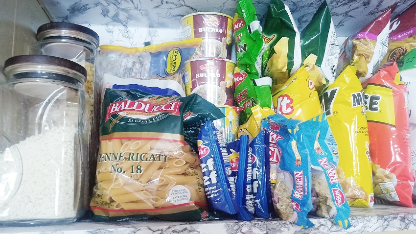 Grocery Shopping and Organization: How I Store Foods in My Single-Door Refrigerator - Top Lifestyle Blogger in Quezon City, Philippines - Retail, Shopping for Necessities and Essential Goods  - Cooking Ingredients and Powdered Drinks and Juices - Pasta and canned goods