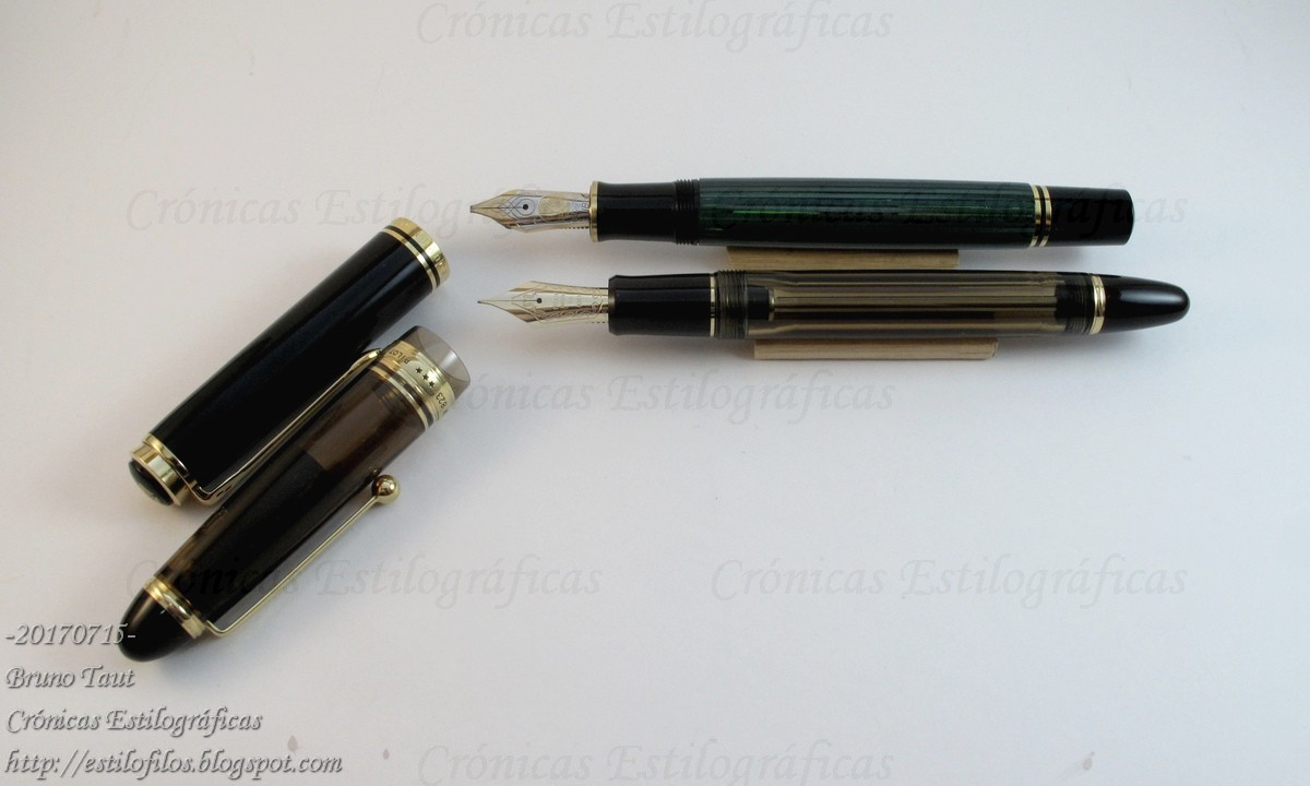 Pelikan M800 and Pilot Custom 823.