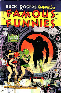 Famous Funnies v1 #213 Buck Rogers comic book cover art by Frank Frazetta