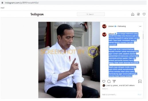 Cek Fakta: Corona Mudah Diatasi Jika Jokowi Jadi Presiden China, Benarkah?