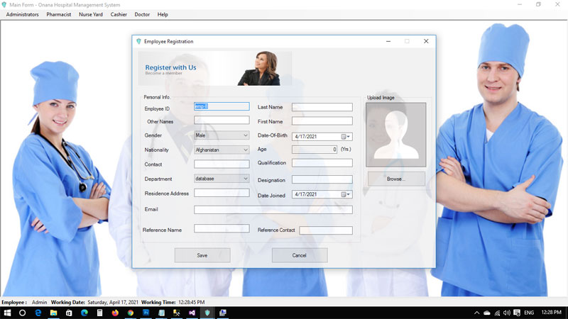 Onana Hospital Management System with C# with Full Source Code
