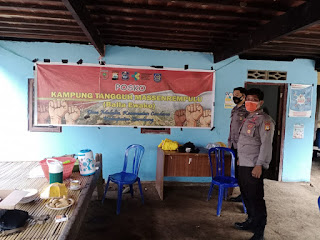 Bhabinkamtibmas Polsek Cendana Kontrol Kampung Tangguh di Desa Malalin, Ini Pesannya
