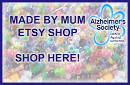 Mum's ETSY SHOP - so far we have donated over £1300 to the Alzheimer's Society.