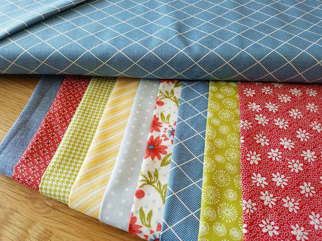 Lofty quilt kits from Olie and Evie for the Lofty quilt pattern from A Bright Corner - love this bundle of fabrics