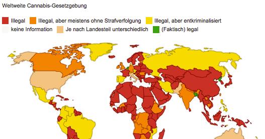 Weltkarte Des Kiffens