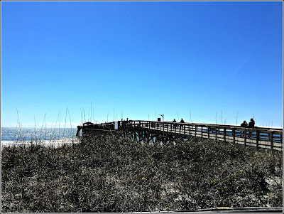 March 17, 2019 Having a wonderful time walking to the State Park Pier