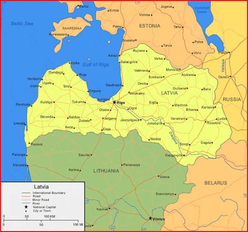image: Latvia Map High Resolution