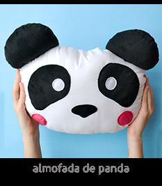 boneco de panda feito com tecido! | espanta-papão