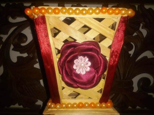 Vas Bunga Bahan Stik Es Krim [Kode : A08]