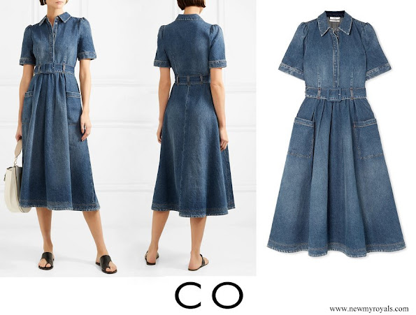 Queen Maxima wore Co Denim midi dress