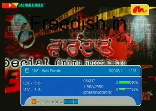 Maha Punjabi Shows and Program List on DD Free Dish