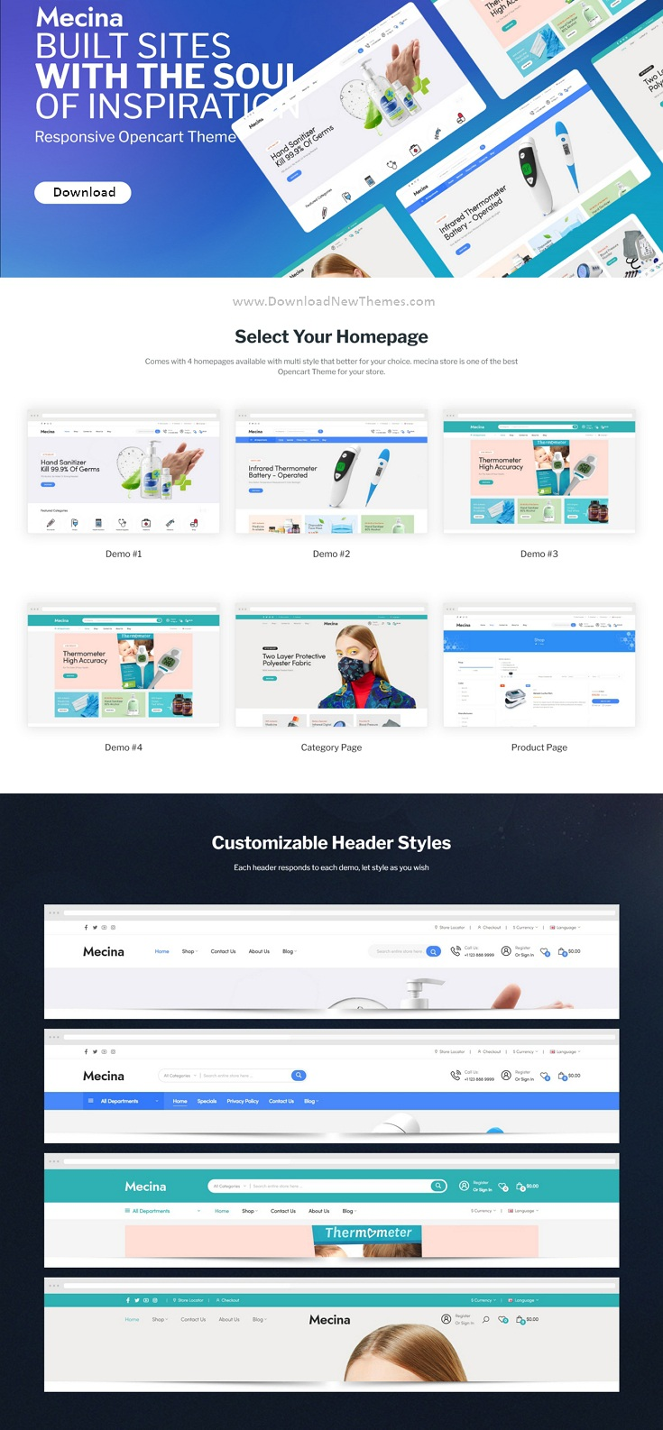 Medical & Healthcare OpenCart Theme