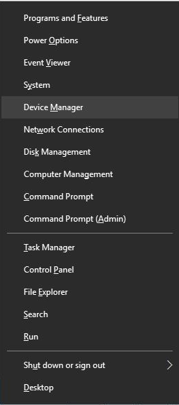 Open Device Manager to Update Network Driver