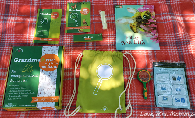 grandma and me activity kit, explore the outdoors, activity kit, activities for kids, outdoor kid toys, summer fun for kids