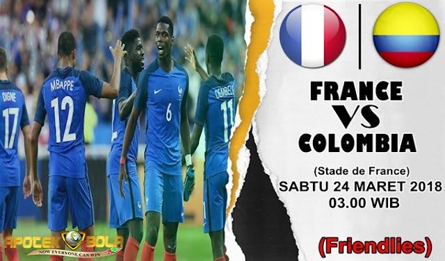 Prediksi Prancis vs Kolombia 24 Maret 2018