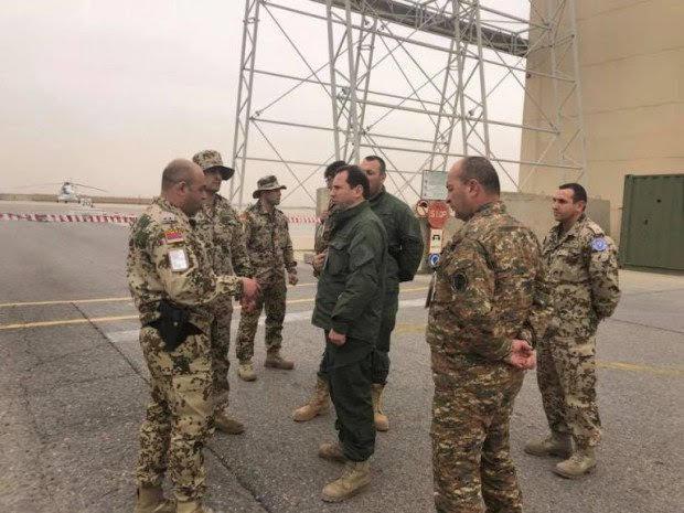 David Tonoyan se reunió con fuerzas de paz armenias en Afganistán