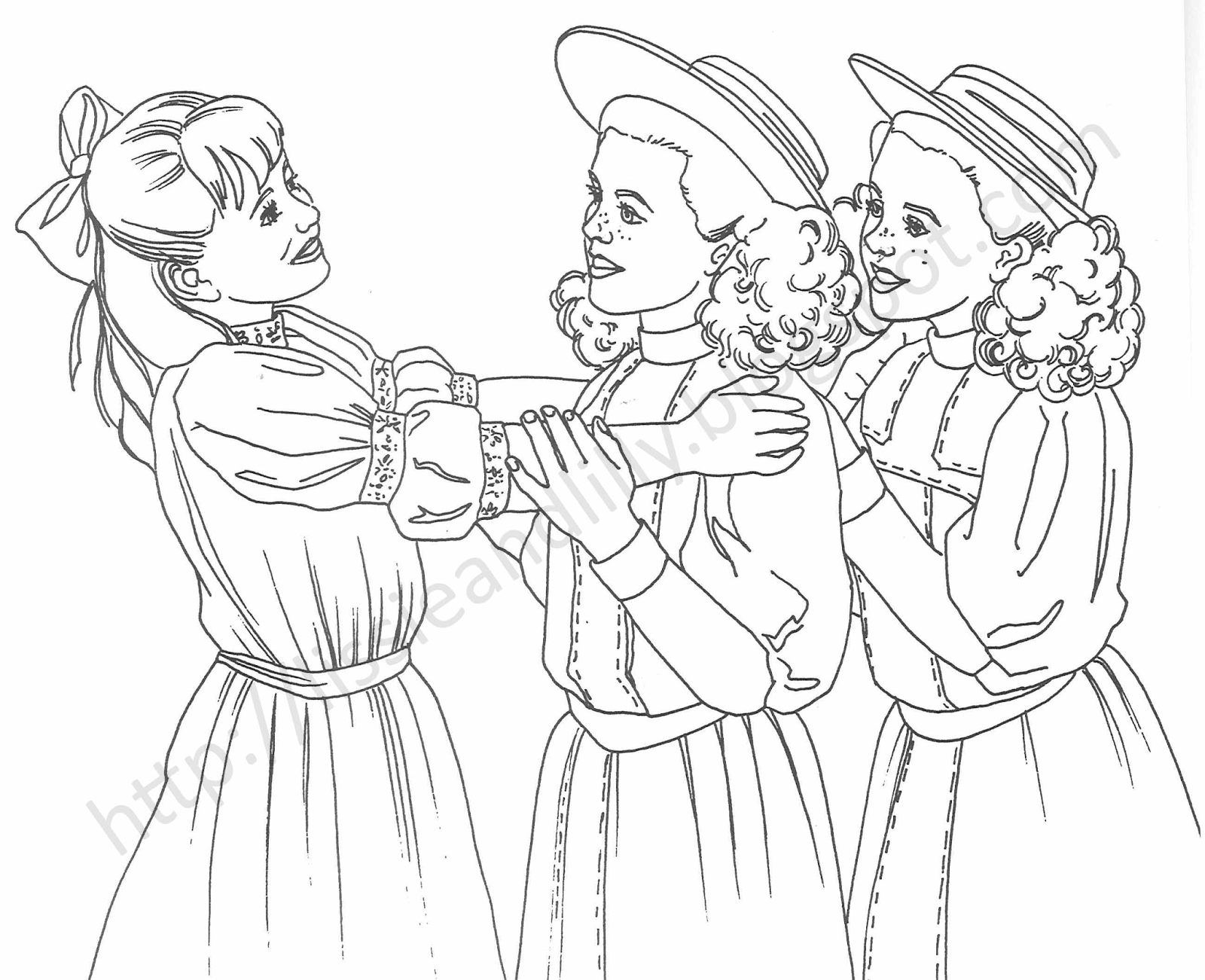 j american girl coloring pages - photo #29