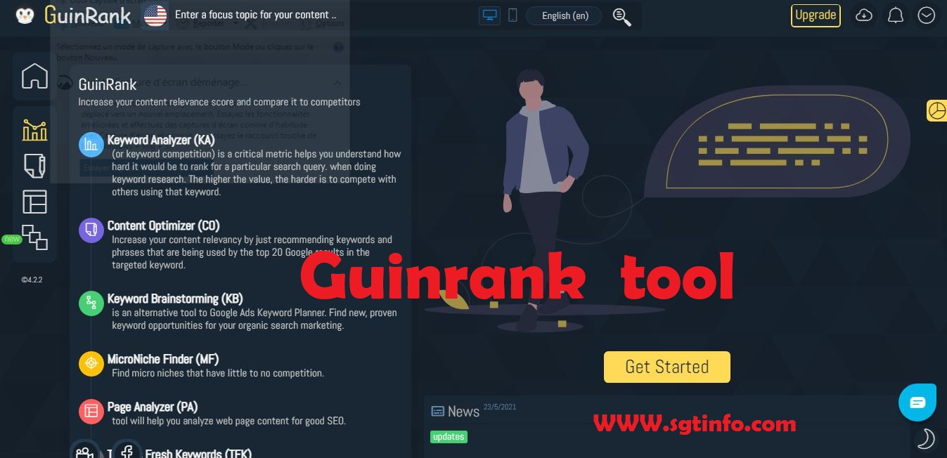 Guinrank tool SEO article