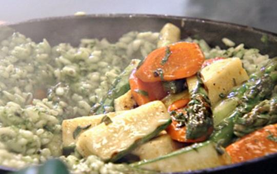 Risotto facil de verduras