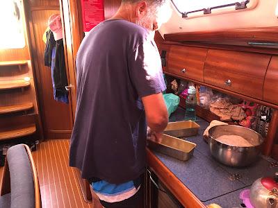 Brødbaking i båt