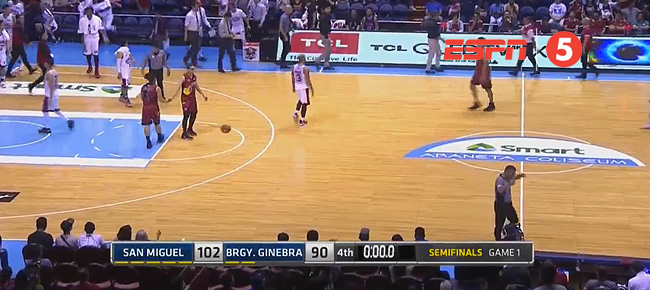 San Miguel def. Ginebra, 102-90 (REPLAY VIDEO) Semis Game 1 / March 9