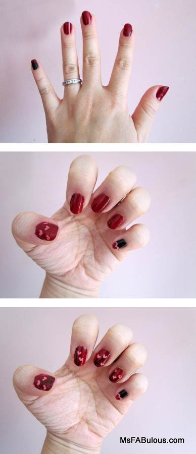 how to heart nails