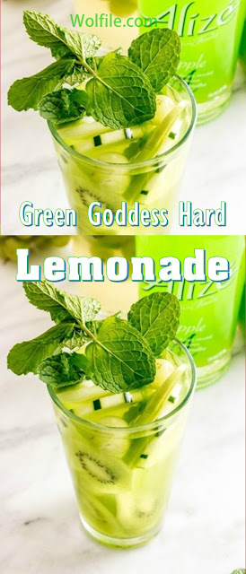 Green Goddes Hard Lemonade Recipe #Summer #Drink