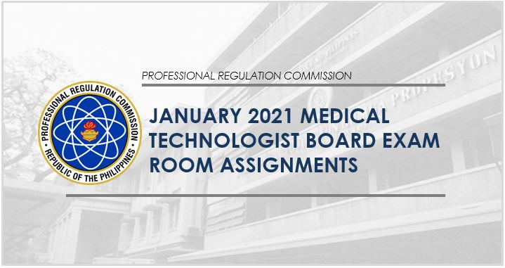 PRC releases room assignments for January 2021 Medtech board exam