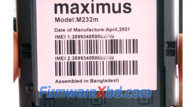 Maximus M232m Flash File MT6261
