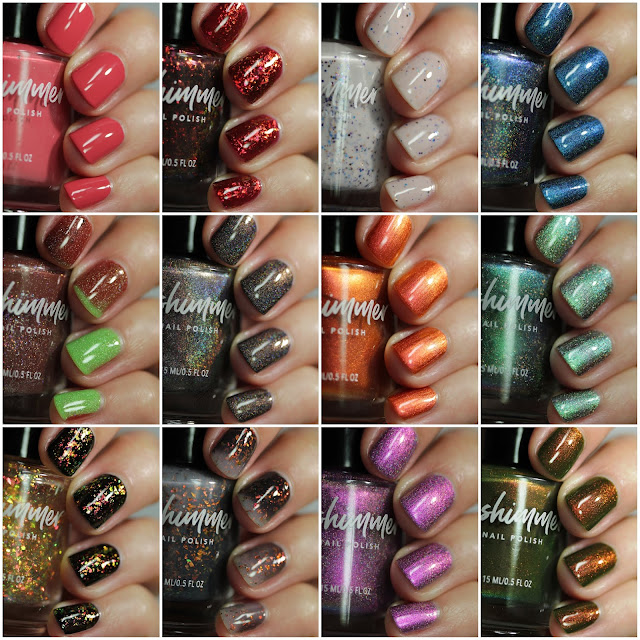KBShimmer Up & Autumn Collection swatches by Streets Ahead Style