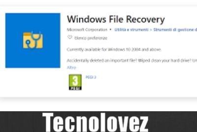 Windows File Recovery -  Nuovo programma gratuito di Microsoft per recuperare file cancellati o danneggiati